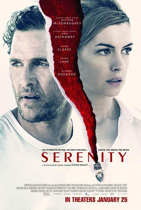 """Poster do filme """"Calmaria"""" (Serenity, 2019). do diretor Steven Knight"""