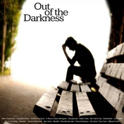 "Capa da compilação ""Out Of the Darkness"", do selo TBTCI"