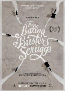 "Cartaz do filme ""A Balada de Buster scruggs"", faroeste dos Irmãos Coen"