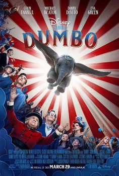 "Cartaz do filme ""Dumbo"", filme dirigido por Tim Burton"