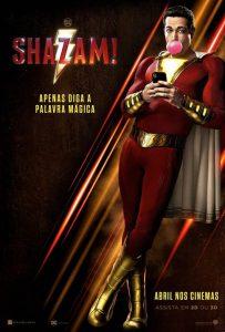 """Cartaz do filme """"Shazam!"""", produção da DC"""