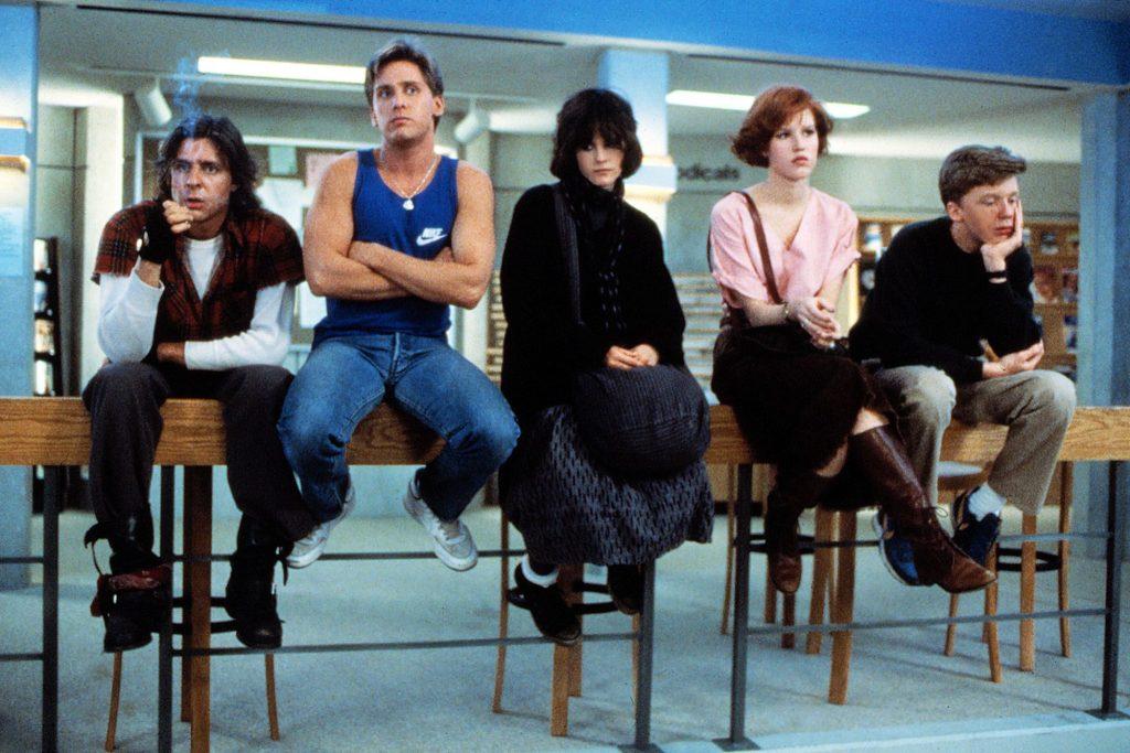 Cena do filme O Clube dos Cinco, de John Hughes