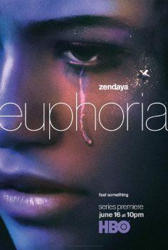 Poster da série Euphoria, produzida pela HBO, com Zendaya
