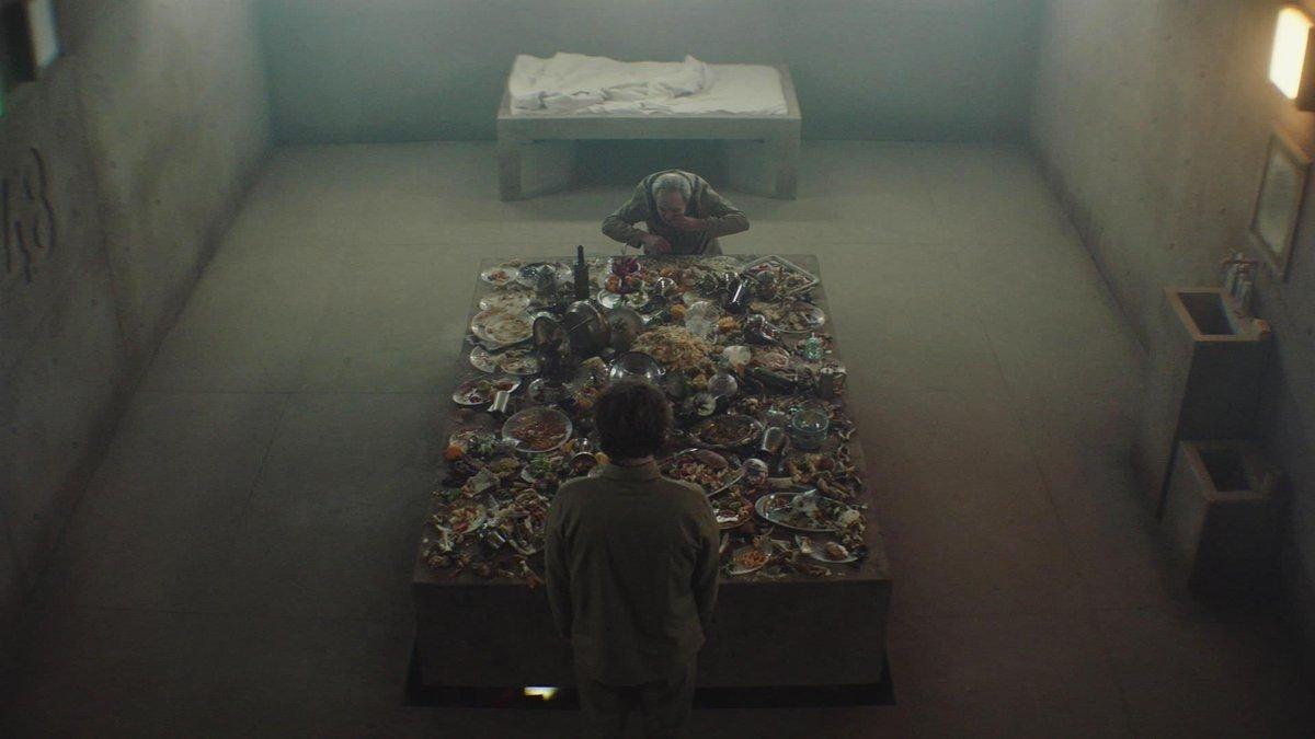 Cena do filme O Poço, da Netflix