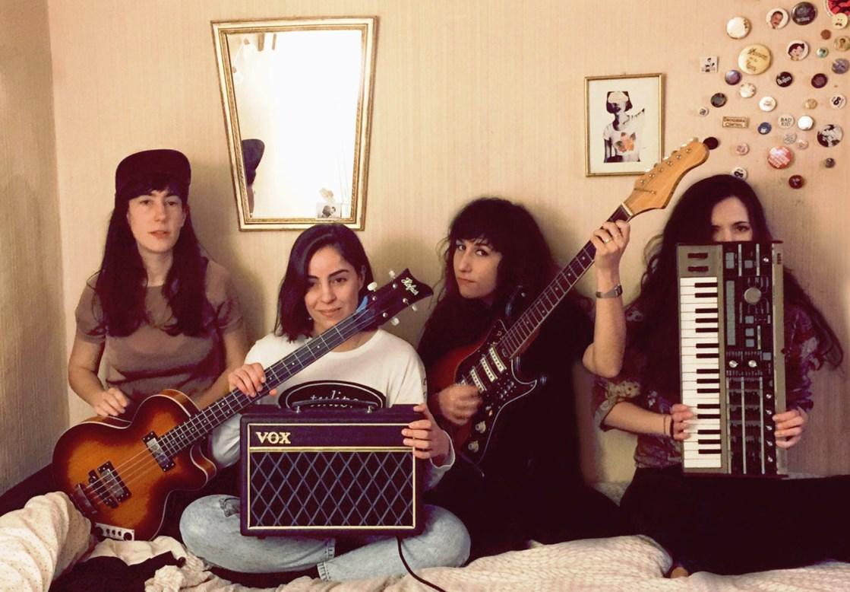 Foto da banda Melenas, da Espanha