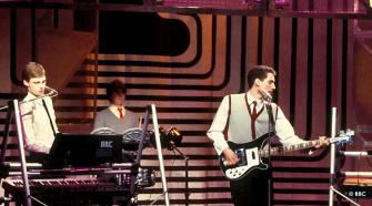 OMD, foto da banda nos anos 80
